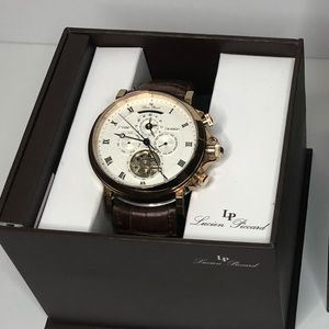 Lucien Piccard Watch Brown Leather. Need Repair